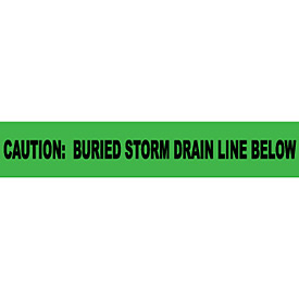"Non-Detectable Underground Warning Tape - Caution Buried Storm Drain Below - 3""W"