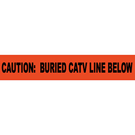 "Non-Detectable Underground Warning Tape - Caution Buried CATV Line Below - 3""W"
