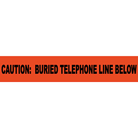 "Non-Detectable Underground Warning Tape - Caution Buried Telephone Line - 3""W"