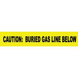 "Non-Detectable Underground Warning Tape - Caution Buried Gas Line Below - 3""W"
