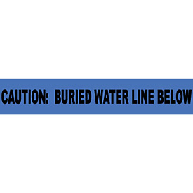 "Non-Detectable Underground Warning Tape - Caution Buried Water Line Below - 6""W"