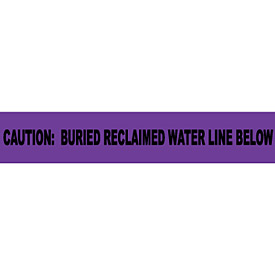 "Non-Detectable Underground Warning Tape - Caution Buried Reclaimed Water - 6""W"