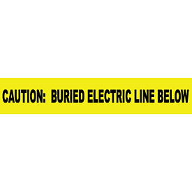 "Non-Detectable Underground Warning Tape - Caution Buried Electric Below - 6""W"