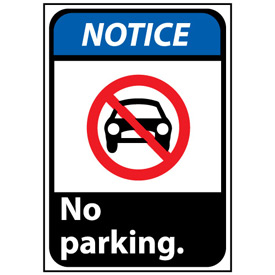 Notice Sign 14x10 Rigid Plastic - No Parking