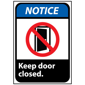 Notice Sign 10x7 Vinyl - Keep Door Closed
