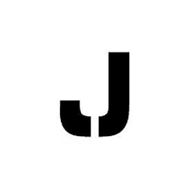 "Individual Character Stencil 12"" - Letter J"