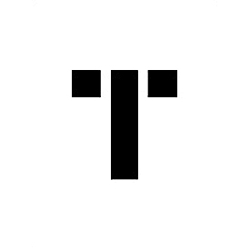 """Individual Character Stencil 24"""" - Letter T"""