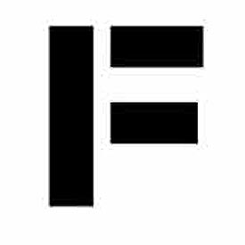 """Individual Character Stencil 4"""" - Letter F"""