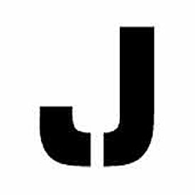 """Individual Character Stencil 4"""" - Letter J"""