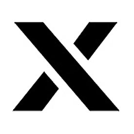 """Individual Character Stencil 4"""" - Letter X"""