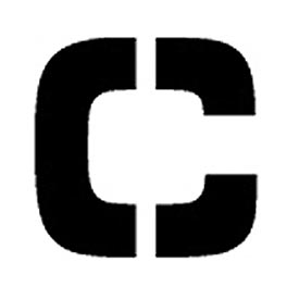 "Individual Character Stencil 8"" - Letter C"