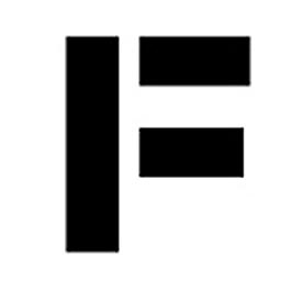 "Individual Character Stencil 8"" - Letter F"