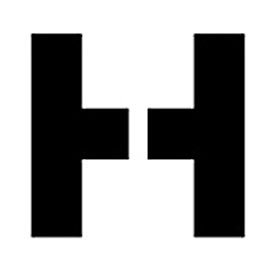 """Individual Character Stencil 8"""" - Letter H"""