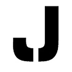 """Individual Character Stencil 8"""" - Letter J"""
