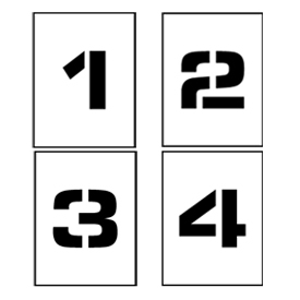 "Individual Character Stencil 24"" - Number Set 0-9"