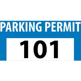 Parking Permit - Blue Bumper Decal 101 - 200