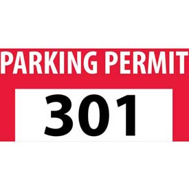 Parking Permit - Red Bumper Decal 301 - 400