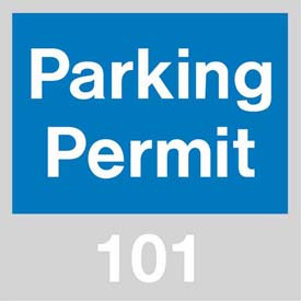 Parking Permit - Blue Windshield 101 - 200