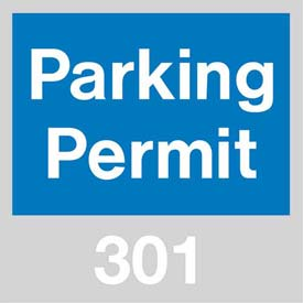 Parking Permit - Blue Windshield 301 - 400