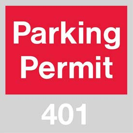 Parking Permit - Red Windshield 401 - 500