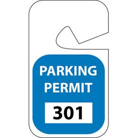 Parking Permit - Blue Rearview 301 - 400