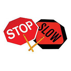 Paddle Sign - Stop/Slow Paddle