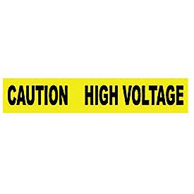 Printed Barricade Tape - Caution High Voltage