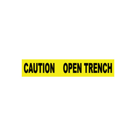 Printed Barricade Tape - Caution Open Trench