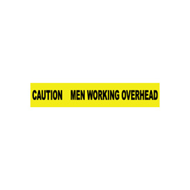 Printed Barricade Tape - Caution Men Working Overhead