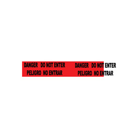 Printed Barricade Tape - Danger Do Not Enter Peligro No Entre