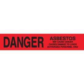 Printed Barricade Tape - Danger Asbestos Hazard