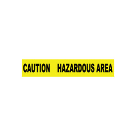 Printed Barricade Tape - Caution Hazardous Area