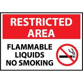 Restricted Area Plastic - Flammable Liquids No Smoking