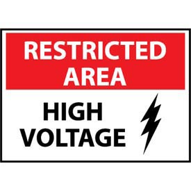 Restricted Area Plastic - High Voltage