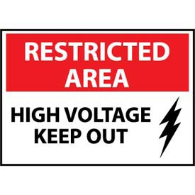 Restricted Area Aluminum - High Voltage Keep Out