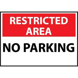 Restricted Area Plastic - No Parking