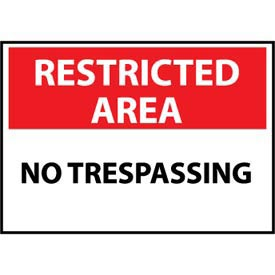 Restricted Area Plastic - No Trespassing