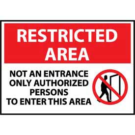 Restricted Area Aluminum - Not An Entrance Only Authorized Persons To Enter