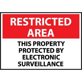 Restricted Area Plastic - This Property Protected By Electronic Surveillance