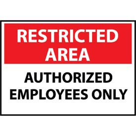 Restricted Area Aluminum - Authorized Employees Only