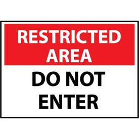 Restricted Area Plastic - Do Not Enter