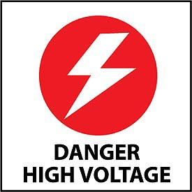 Graphic Safety Labels - Danger High Voltage