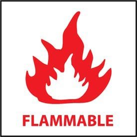 Graphic Safety Labels - Flammable