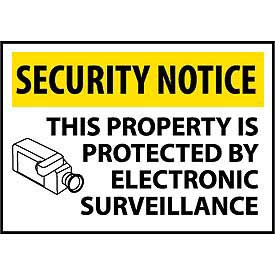 Security Notice Aluminum - This Property Is Protected By Electronic Surveillance