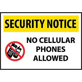 Buy Security Notice Plastic No Cellular Phones Allowed