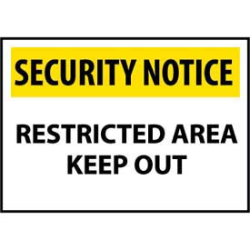 Security Notice Plastic - Restricted Area Keep Out