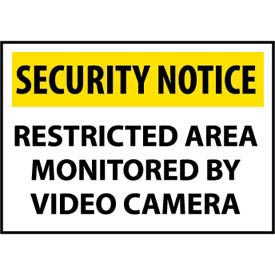 Security Notice Aluminum - Restricted Area Monitored By Video Camera