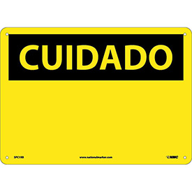 Spanish Plastic Sign - Cuidado Blank
