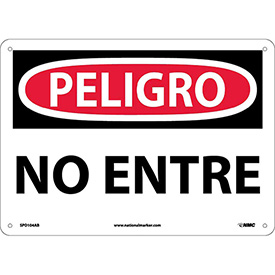 Spanish Aluminum Sign - Peligro No Entre