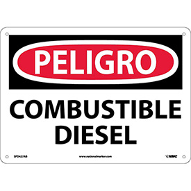 Spanish Aluminum Sign - Peligro Combustible Diesel